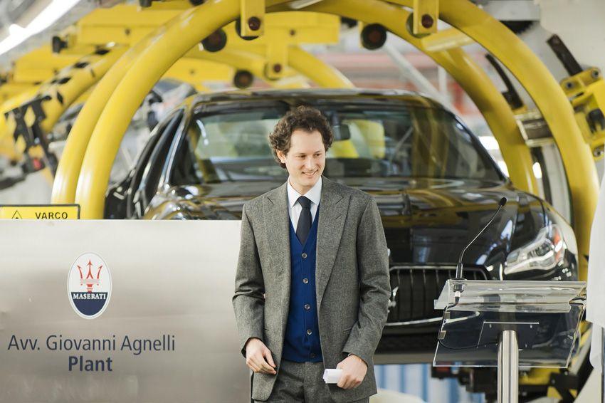 John Elkann alla inaugurazione dell'impianto Maserati a Grugliasco