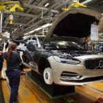 La linea di produzione della Volvo 90