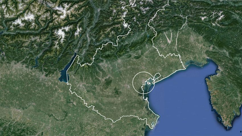 L'area del Veneto interessata dal progetto