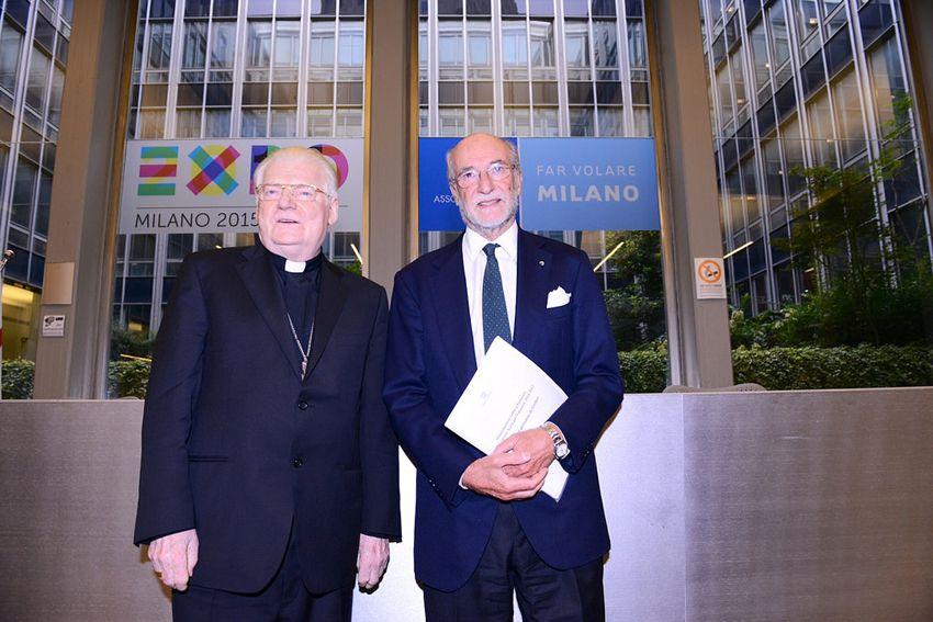 Gianfelice Rocca con l'arcivescovo Angelo Scola