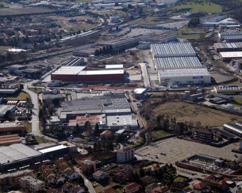 Area industriale vicino a Como