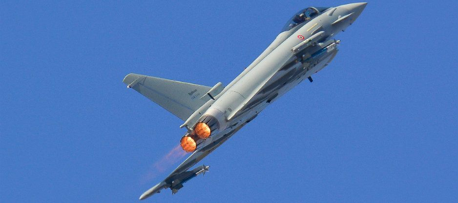 Eurofighter 500 in volo a Caselle