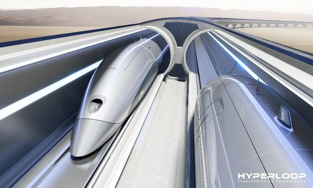 HyperloopTT system front view