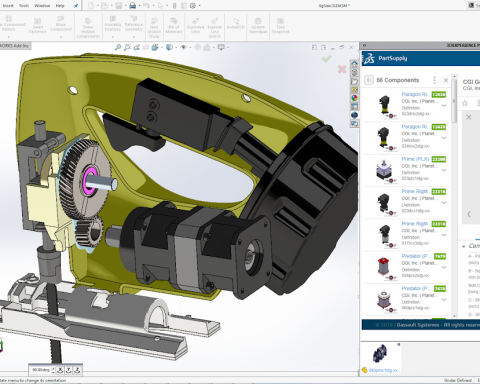 PartSupply in Solidworks_Copyright Dassault Systemes