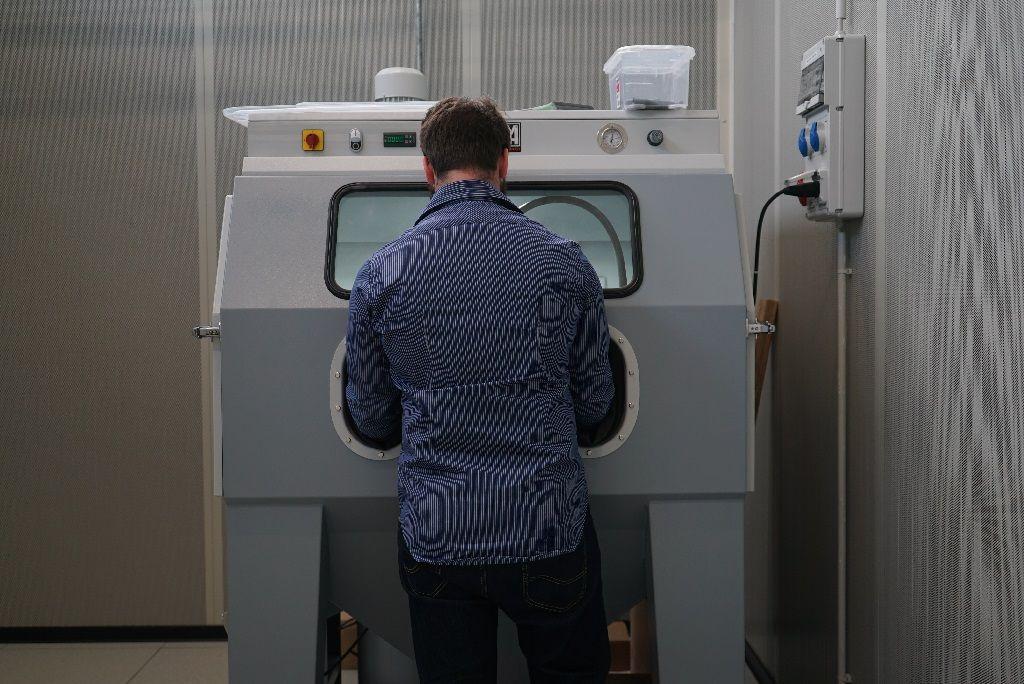 Laboratorio di Elmec 3D - impianto di post-produzione